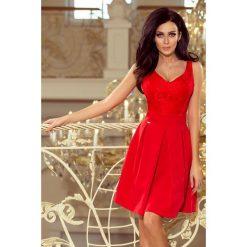 e419520448 Sukienki wieczorowe czerwone rozkloszowane - Sukienki damskie ...