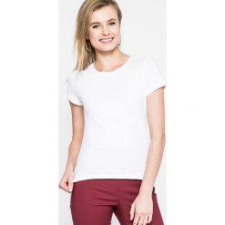 Calvin Klein Jeans - Top. Szare topy damskie Calvin Klein Jeans, l, z bawełny, z okrągłym kołnierzem. W wyprzedaży za 99,90 zł.