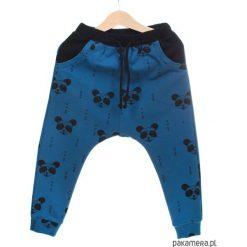 Chinosy chłopięce: Wiosenne spodnie baggy granatowe PANDY