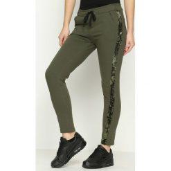 Spodnie dresowe damskie: Khaki Spodnie Dresowe Comfy