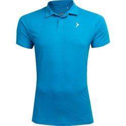 Koszulka polo męska TSM602 - niebieski - Outhorn. Niebieskie koszulki polo marki Outhorn, m, z materiału. W wyprzedaży za 34,99 zł.