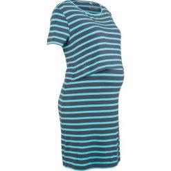 Sukienka shirtowa ciążowa i do karmienia bonprix świetlny niebieski - nocny niebieski w paski. Niebieskie sukienki ciążowe bonprix, w paski, z okrągłym kołnierzem. Za 59,99 zł.