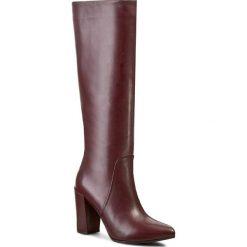 Kozaki GINO ROSSI - Verona DKG110-F96-4300-7700-0 Bordowy. Czerwone buty zimowe damskie marki Gino Rossi, ze skóry. W wyprzedaży za 369,00 zł.