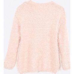 Blukids - Sweter dziecięcy 98-128 cm. Różowe swetry dziewczęce marki Mayoral, z bawełny, z okrągłym kołnierzem. W wyprzedaży za 69,90 zł.