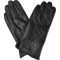 Rękawiczki Skórzane. Czarne rękawiczki męskie LANCERTO, w paski, ze skóry. W wyprzedaży za 69,90 zł.