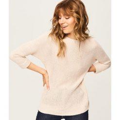 Sweter - Różowy. Czerwone swetry klasyczne damskie marki Reserved, l. Za 79,99 zł.