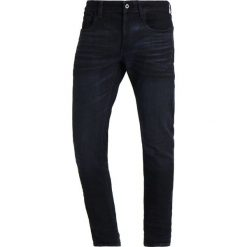 GStar 3301 DECONSTRUCTED SLIM Jeansy Slim Fit dark blue. Niebieskie jeansy męskie regular G-Star, z bawełny. Za 519,00 zł.