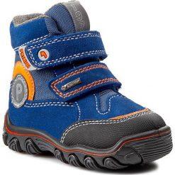 Śniegowce PRIMIGI - Aurel 4575077 Scamosc/Tecnic/Bluet. Niebieskie buty zimowe chłopięce Primigi, z gore-texu, za kostkę. W wyprzedaży za 179,00 zł.