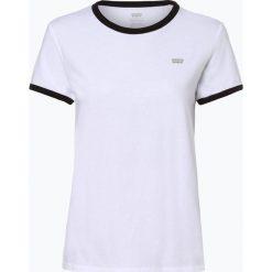 Levi's - T-shirt damski, beżowy. Brązowe t-shirty damskie Levi's®, s, z bawełny, z kontrastowym kołnierzykiem. Za 129,95 zł.