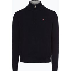 Napapijri - Sweter męski – Noyim3, niebieski. Szare swetry klasyczne męskie marki Napapijri, l, z materiału, z kapturem. Za 649,95 zł.