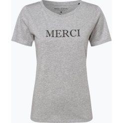 Marc O'Polo - T-shirt damski, szary. Szare t-shirty damskie Marc O'Polo, l, z nadrukiem, z bawełny, polo. Za 139,95 zł.