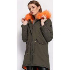 Zielono-Pomarańczowa Kurtka Shipshape. Brązowe kurtki damskie Born2be, na zimę, l, z aplikacjami. Za 179,99 zł.