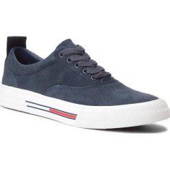 Tenisówki TOMMY JEANS - Oxford City Sneaker EM0EM00149 Ink 006. Niebieskie tenisówki męskie Tommy Jeans, z gumy. W wyprzedaży za 279,00 zł.