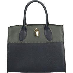 Torba - 90-8383-K B-G. Niebieskie torebki klasyczne damskie marki Venezia, ze skóry. Za 199,00 zł.