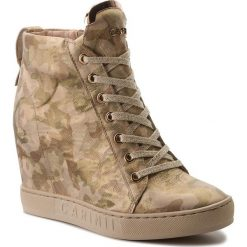 Sneakersy CARINII - B4078 L59-000-000-B88. Żółte sneakersy damskie Carinii, z materiału. W wyprzedaży za 259,00 zł.