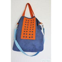 Torba hobo XXL - kobalt, pomarańcz, błękit. Niebieskie torebki klasyczne damskie Pakamera, z syntetyku. Za 129,00 zł.