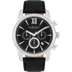 """Zegarki męskie: Zegarek kwarcowy """"Halvor"""" w kolorze czarno-srebrnym"""