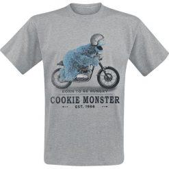 T-shirty męskie: Ulica Sezamkowa Krümelmonster - Born To Be Hungry T-Shirt odcienie szarego