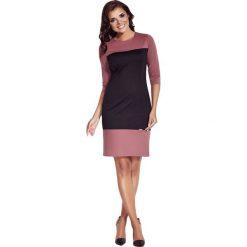 Odzież damska: Sukienka Awama w kolorze różowo-czarnym