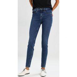 Calvin Klein Jeans HIGH RISE SKINNY Jeans Skinny Fit blue denim. Niebieskie jeansy damskie relaxed fit Calvin Klein Jeans, z bawełny. W wyprzedaży za 356,85 zł.