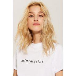 T-shirt z napisem - Biały - 2