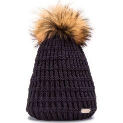 85-HF-016-7 Czapka damska. Niebieskie czapki damskie Wittchen, na zimę, z dzianiny. Za 69,00 zł.