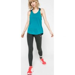 Nike - Top. Szare topy damskie Nike, l, z nadrukiem, z elastanu, bez rękawów. W wyprzedaży za 99,90 zł.