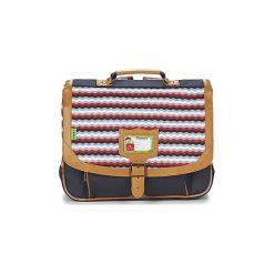 Teczki Tann's  LES BONS ENFANTS ZIG ZAG CARTABLE 38CM. Niebieskie torebki klasyczne damskie Tann's. Za 247,20 zł.