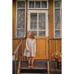 Sukienka RETRO STYLE. Brązowe sukienki dziewczęce z falbanami Pakamera, z bawełny, retro. Za 169,00 zł.