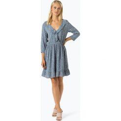 Minimum - Sukienka damska – Barbel, niebieski. Niebieskie sukienki marki Minimum, w kwiaty. Za 399,95 zł.