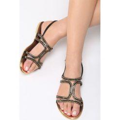 Sandały damskie: Czarne Sandały Nettle