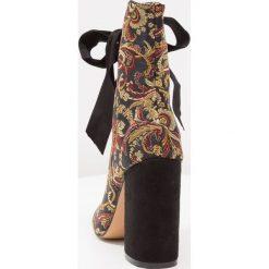 Botki damskie lity: Glamorous Botki na obcasie black/multicolor