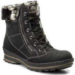 Botki RIEKER - Z2431-00 Schwarz. Czarne buty zimowe damskie marki Rieker, z materiału. W wyprzedaży za 209,00 zł.