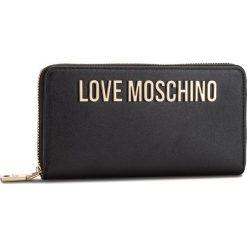Duży Portfel Damski LOVE MOSCHINO - JC5593PP06KU0000  Nero. Czarne portfele damskie marki Love Moschino, ze skóry ekologicznej. Za 429,00 zł.