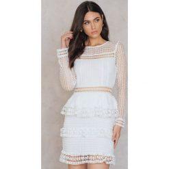 Długie sukienki: Endless Rose Sukienka z wielowarstwową koronką - Offwhite