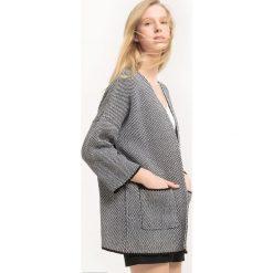 Kardigan - płaszcz z bawełny. Szare płaszcze damskie marki La Redoute Collections, m, z bawełny, z kapturem. Za 103,91 zł.