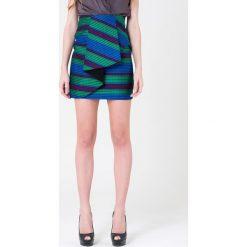 Minispódniczki: Spódnica w kolorze niebiesko-zielonym