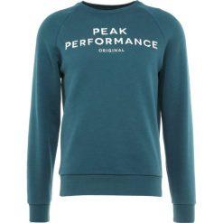 Peak Performance LOGO  Bluza teal extreme. Zielone bluzy męskie Peak Performance, m, z bawełny. Za 419,00 zł.