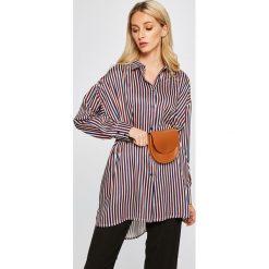 Answear - Koszula Stripes Vibes. Szare koszule damskie marki ANSWEAR, s, w paski, z elastanu, casualowe, z klasycznym kołnierzykiem, z długim rękawem. W wyprzedaży za 79,90 zł.