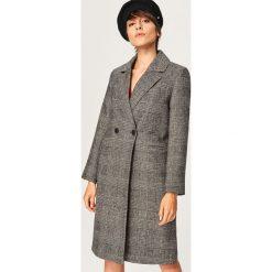 Płaszcz z domieszką wełny - Wielobarwn. Szare płaszcze damskie pastelowe Reserved, z wełny. Za 299,99 zł.