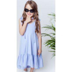 Sukienki dziewczęce na ramiączkach: Sukienka Mia niebieska