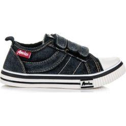 Buty dziecięce: Jeansowe trampki dla chłopca COOPER czarne