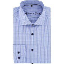 Koszula RICCARDO 16-05-27-K. Szare koszule męskie na spinki marki S.Oliver, l, z bawełny, z włoskim kołnierzykiem, z długim rękawem. Za 229,00 zł.
