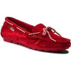 Mokasyny damskie: Mokasyny NESSI – 18307 Czerwony W