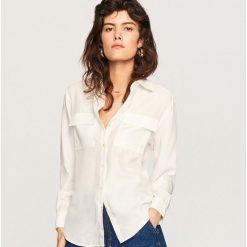Odzież damska: Koszula z lyocellu - Kremowy