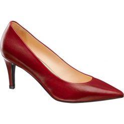 Szpilki damskie 5th Avenue czerwone. Czerwone szpilki marki 5th Avenue, z materiału. Za 199,90 zł.