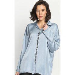 Niebieska Koszula Flexing. Zielone koszule damskie marki Mohito, l, z wykładanym kołnierzem. Za 139,99 zł.