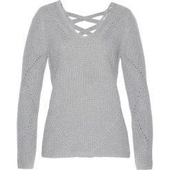 Sweter bonprix szary melanż. Szare swetry klasyczne damskie bonprix, z bawełny. Za 89,99 zł.