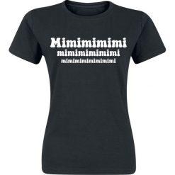 Mimimimimi Koszulka damska czarny. Czarne bluzki na imprezę marki Mimimimimi, xl. Za 42,90 zł.