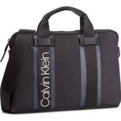 Torba na laptopa CALVIN KLEIN - Clash Laptop Bag K50K504228 001. Czarne torby na laptopa Calvin Klein, z materiału. Za 549,00 zł.